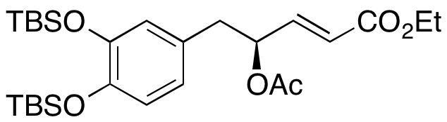 (2E,4S)-4-(Acetyloxy)-5-[3,4-bis[[(1,1-dimethylethyl)dimethylsilyl]oxy]phenyl]-2-pentenoic Acid,1235828-19-9