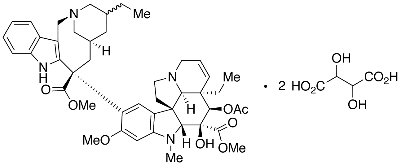 (20'RS)-15',20'-Dihydro Vinorelbine Ditartarate (Mixture of Diastereomers),NA