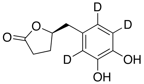 (4R)-5-(3',4'-Dihydroxyphenyl)-γ-valerolactone-d3 ((-)-Epicatechin Metabolite),NA