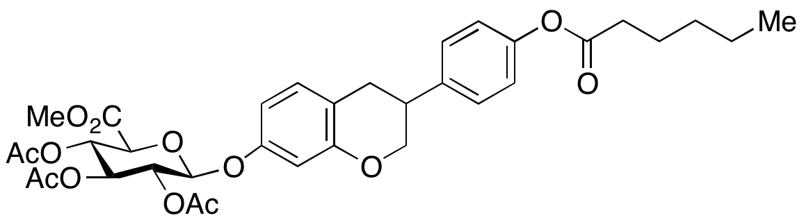 (R,S)-Equol Hexanoate 3,4-O-Triacetyl-4'-O-β-D-glucuronide Methyl Ester ,NA