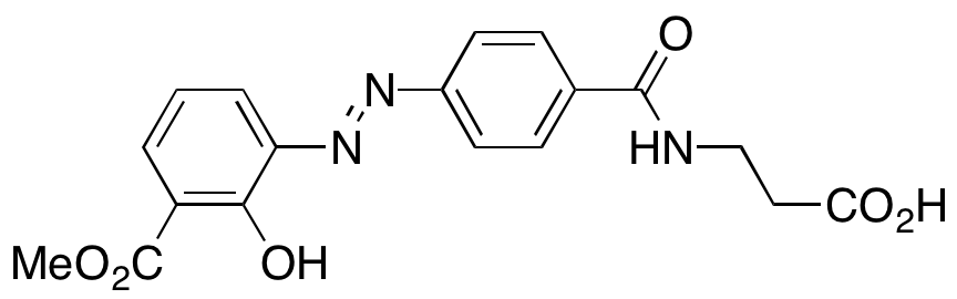 (E)-3-(4-((2-Hydroxy-3-(methoxycarbonyl)phenyl)diazenyl)benzamido)propanoic Acid,NA