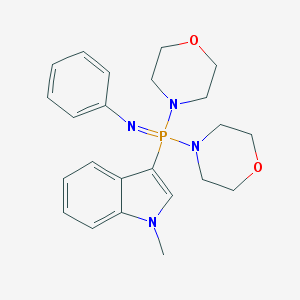 (1-Methylindol-3-yl)-dimorpholin-4-yl-phenylimino-,