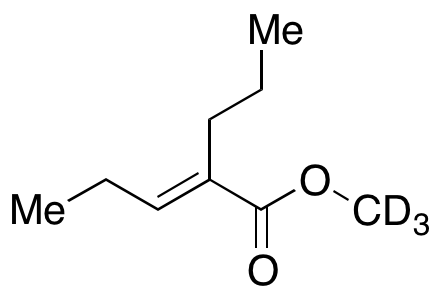 (E/Z)-2-Propyl-2-pentenoic Acid Methyl Ester-d3,NA